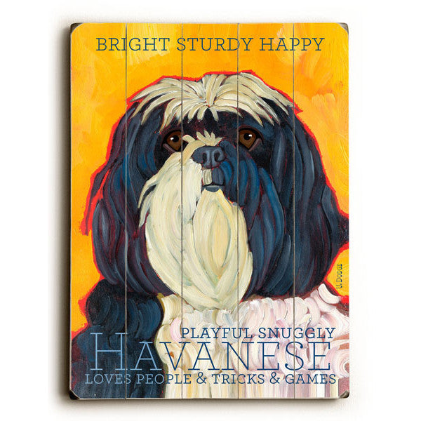 Havanese Wood Sign