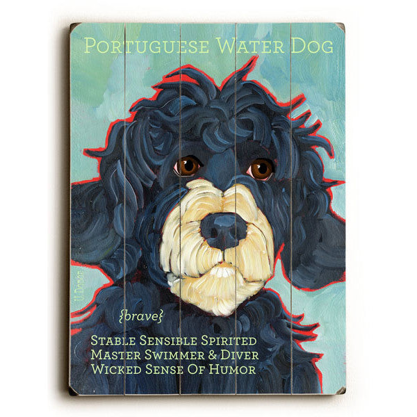 Portuguese Water Dog Wood Sign - Premier Home & Gifts