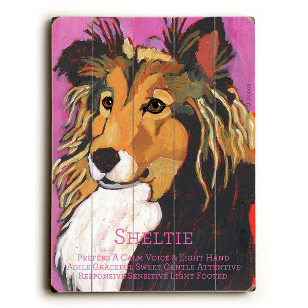 Sheltie II Wood Sign - Premier Home & Gifts