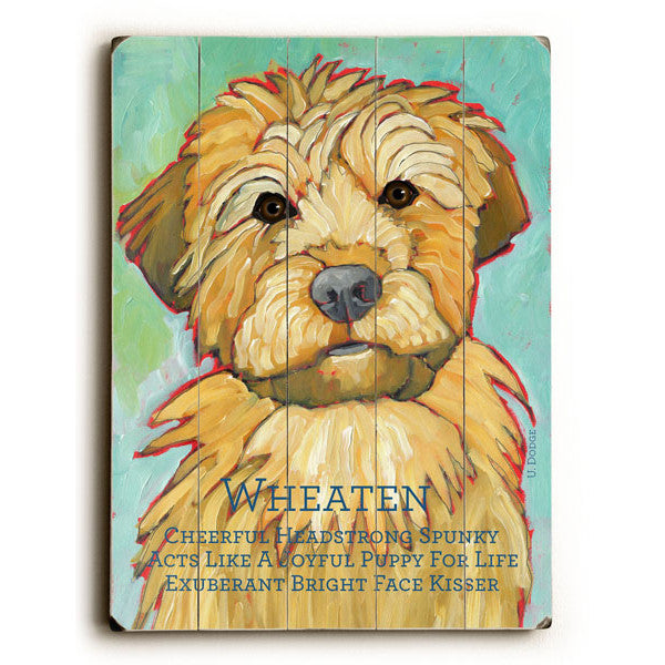 Wheaten Wood Sign - Premier Home & Gifts