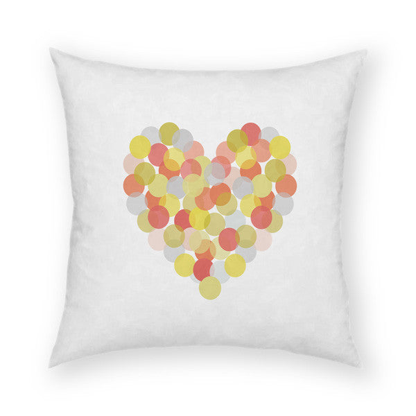 Spotted Love Heart Throw Pillow