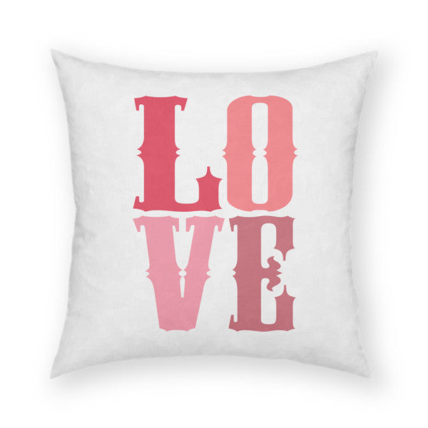 Love Pink Throw Pillow