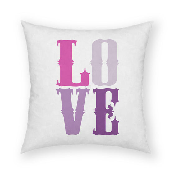 Love Purple Throw Pillow