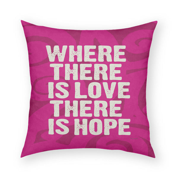 Where There Is Love Throw Pillow