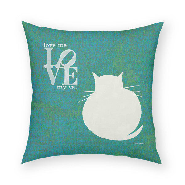 Love Me Love My Cat Throw Pillow