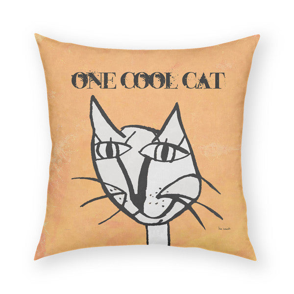 One Cool Cat Throw Pillow