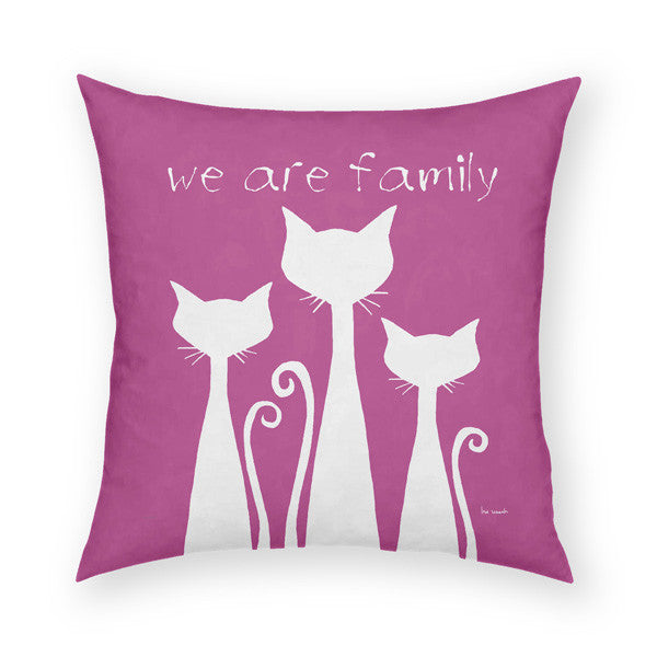 We Are Family Throw Pillow