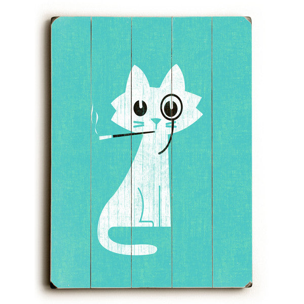 Aristocrat Cat Wood Sign