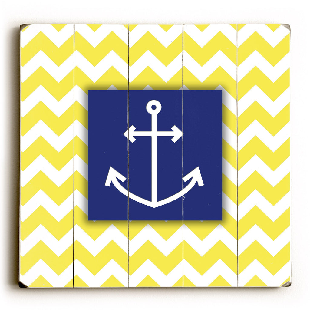 Chevron Anchor Wood Sign