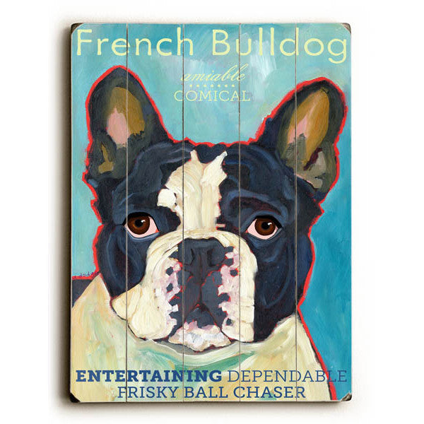 French Bulldog III Wood Sign