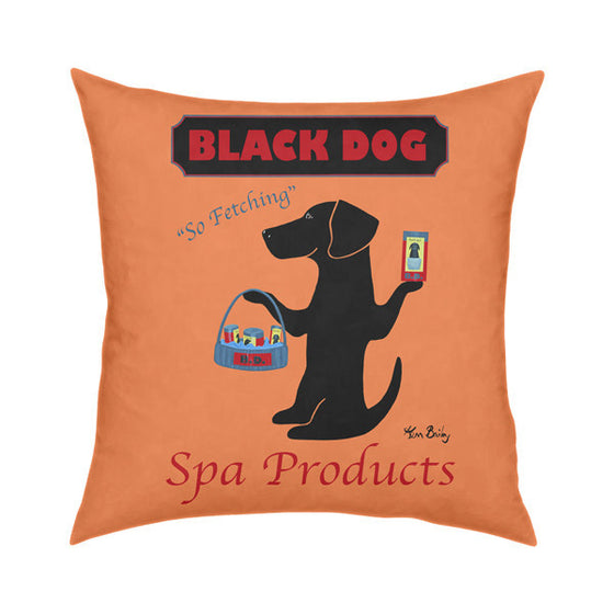Black Dog Spa Products Throw Pillow