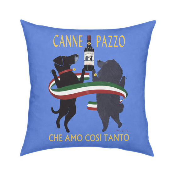 Canne Pazzo Throw Pillow