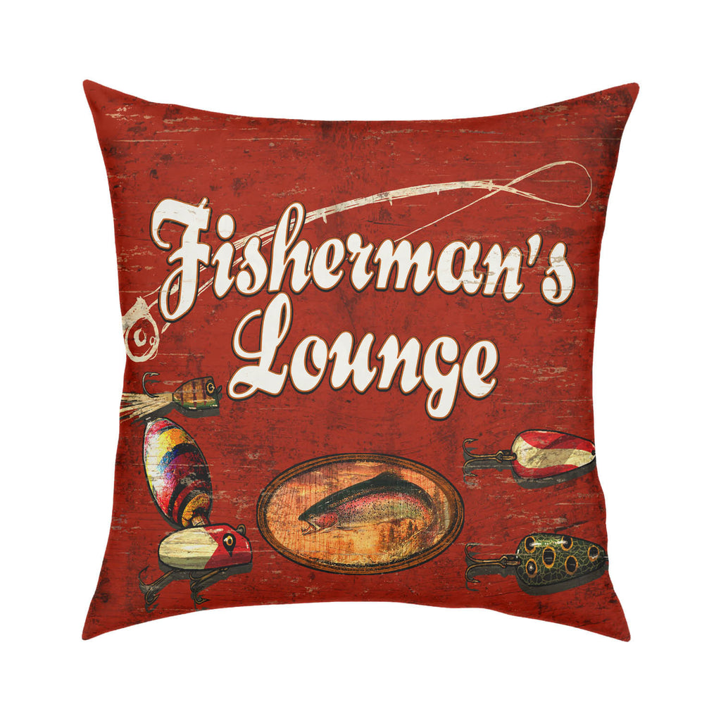 Fisherman's Lounge Throw Pillow