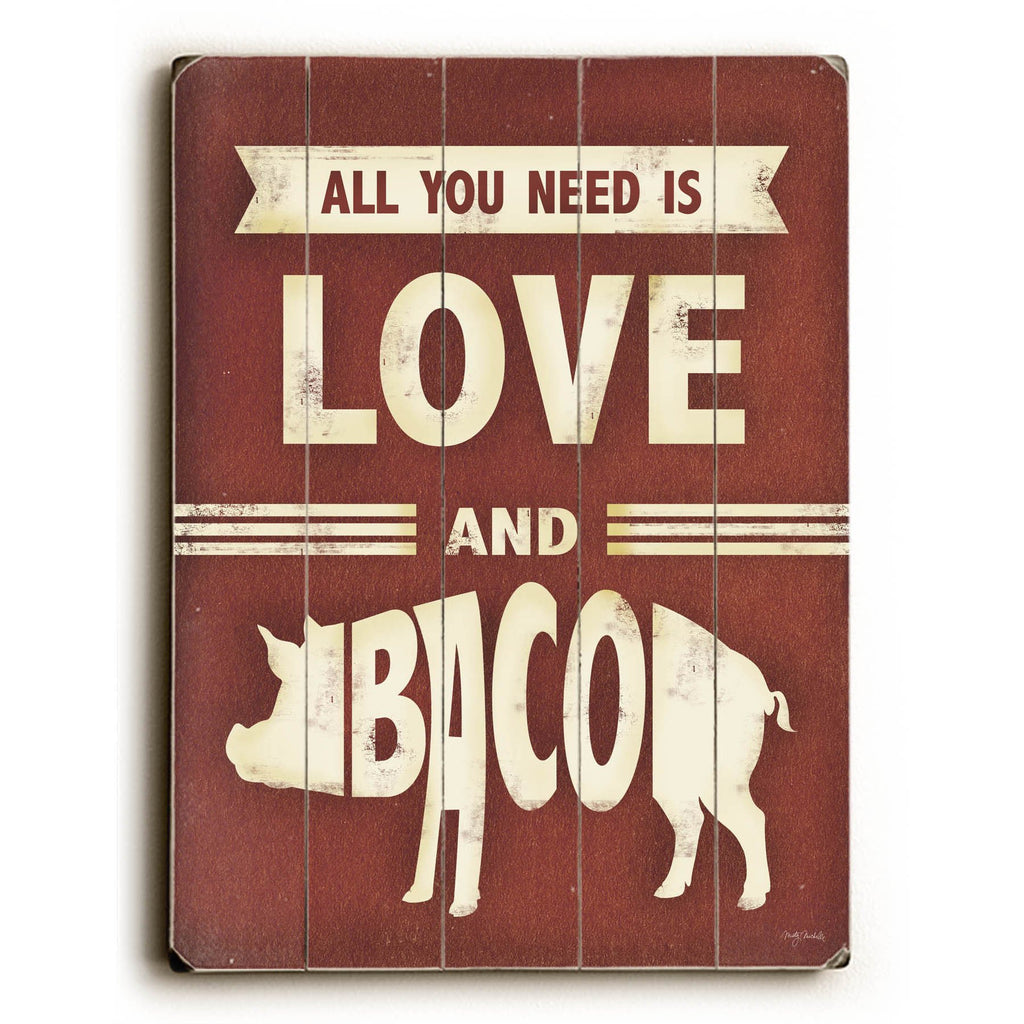 Love and Bacon Wood Sign - Kitchen Wall Art - Premier Home & Gifts