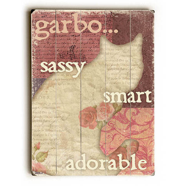 Sassy Smart Adorable Wood Sign - Personalized