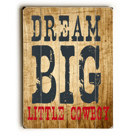 Little Cowboy Wood Sign - Wall Art - Premier Home & Gifts