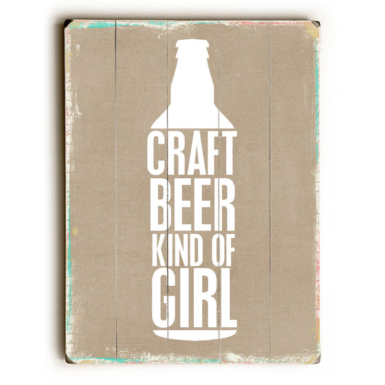 Craft Beer Girl Wood Sign - Beer Wall Art - Premier Home & Gifts