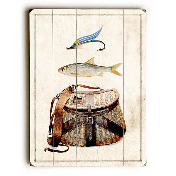 Fishing Gear Wood Sign
