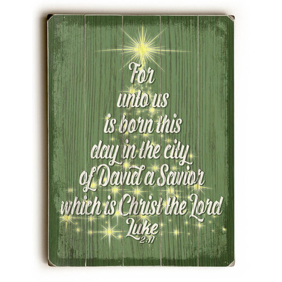 For Unto Us Wood Sign - Christmas Decor - Premier Home & Gifts
