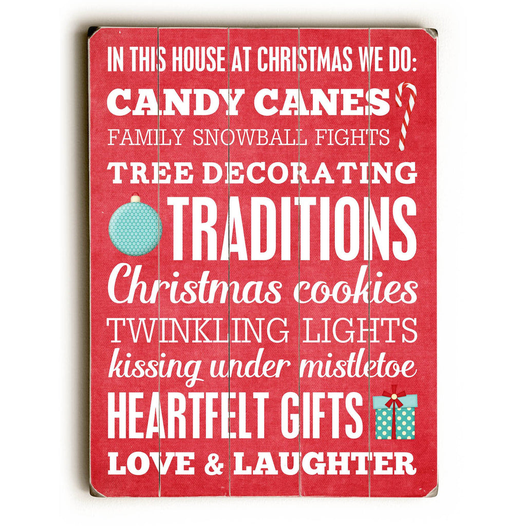 In This House Christmas Wood Sign - Christmas Decor - Premier Home & Gifts