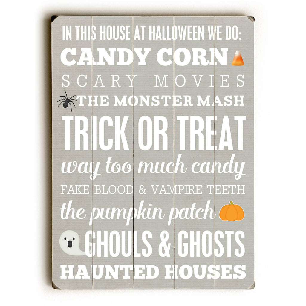 In This House Halloween Wood Sign - Wall Art - Premier Home & Gifts