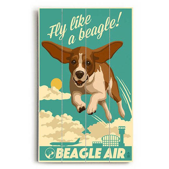 Beagle Air Wood Sign