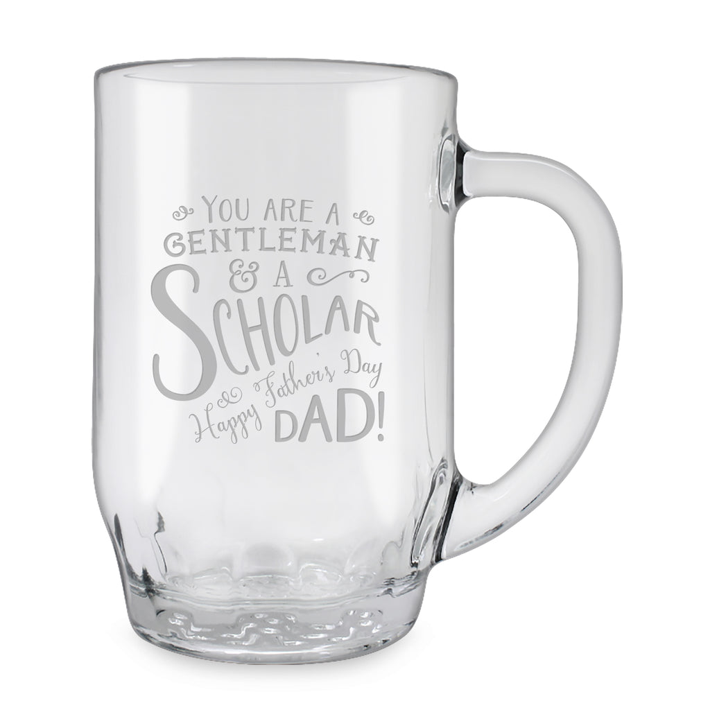 Gentleman and a Scholar Glass Mugs - Father's Day Gifts