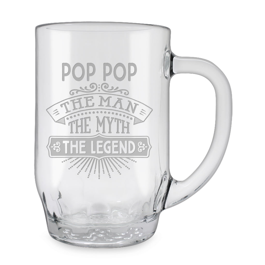 Pop Pop Glass Mugs - Gifts for Grandparents