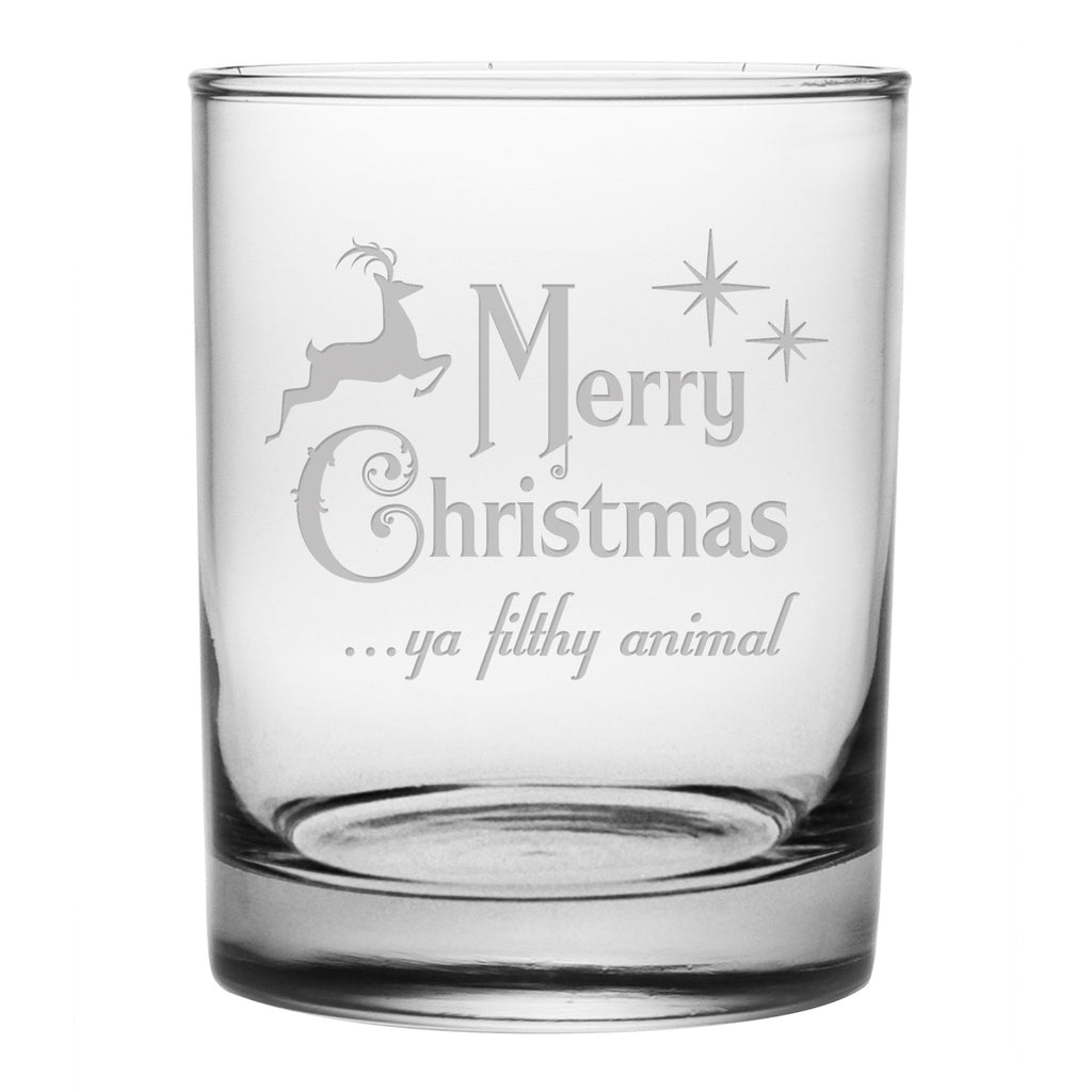 Ya Filthy Animal Double Old Fashioned Glasses - Set of 4