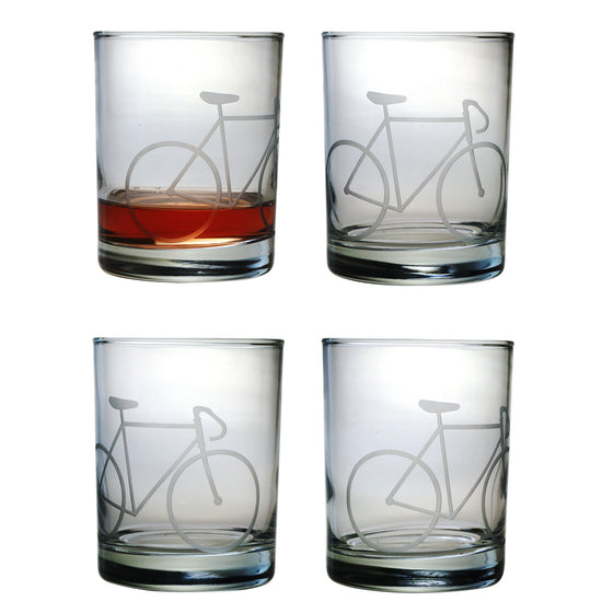 Bicycle Double Old Fashioned Glasses
