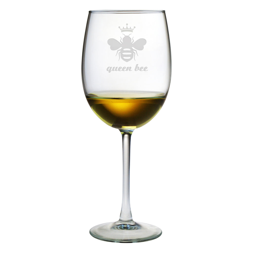 Queen Bee Design ~ Wine Glasses