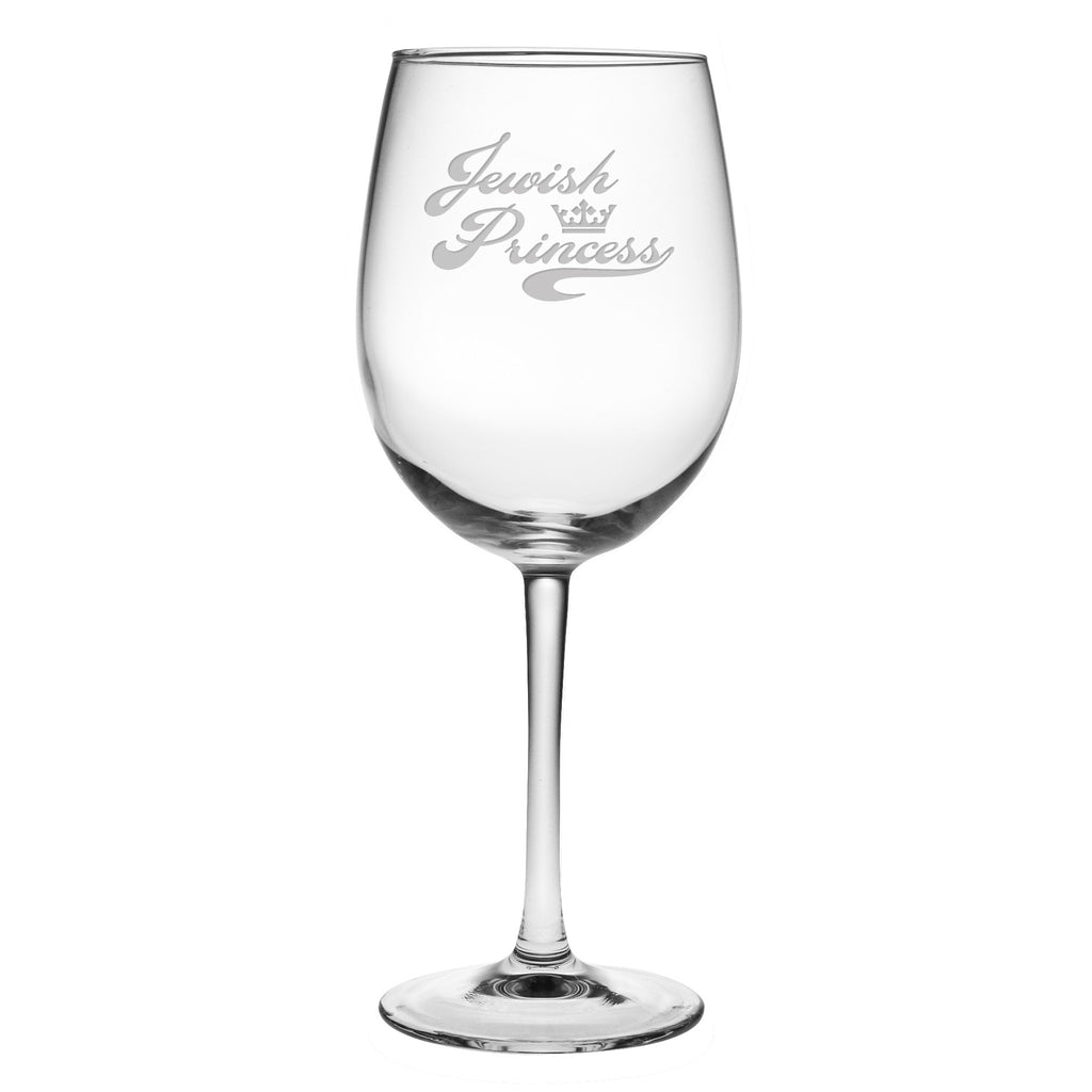 Jewish Princess Wine Glasses ~ Set of 4