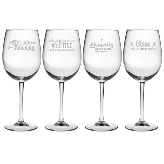 Boozily Honest Wine Glasses - Premier Home & Gifts