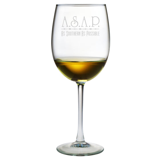 ASAP - As Southern As Possible Wine Glasses