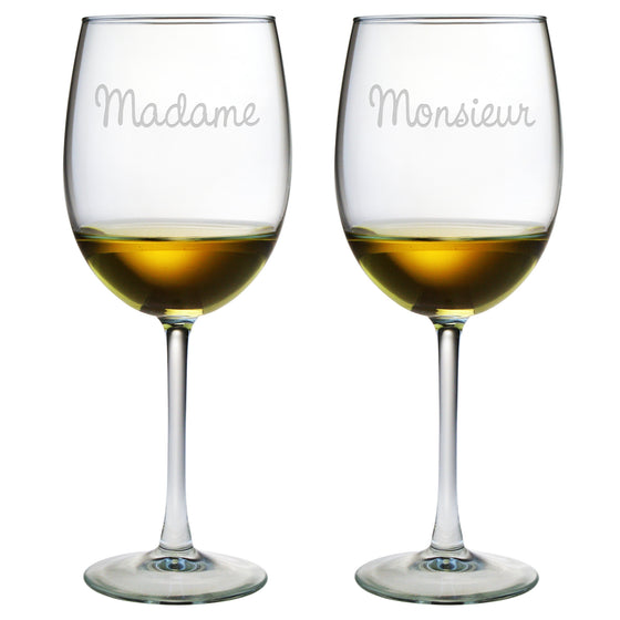 Madame & Monsieur Wine Glasses