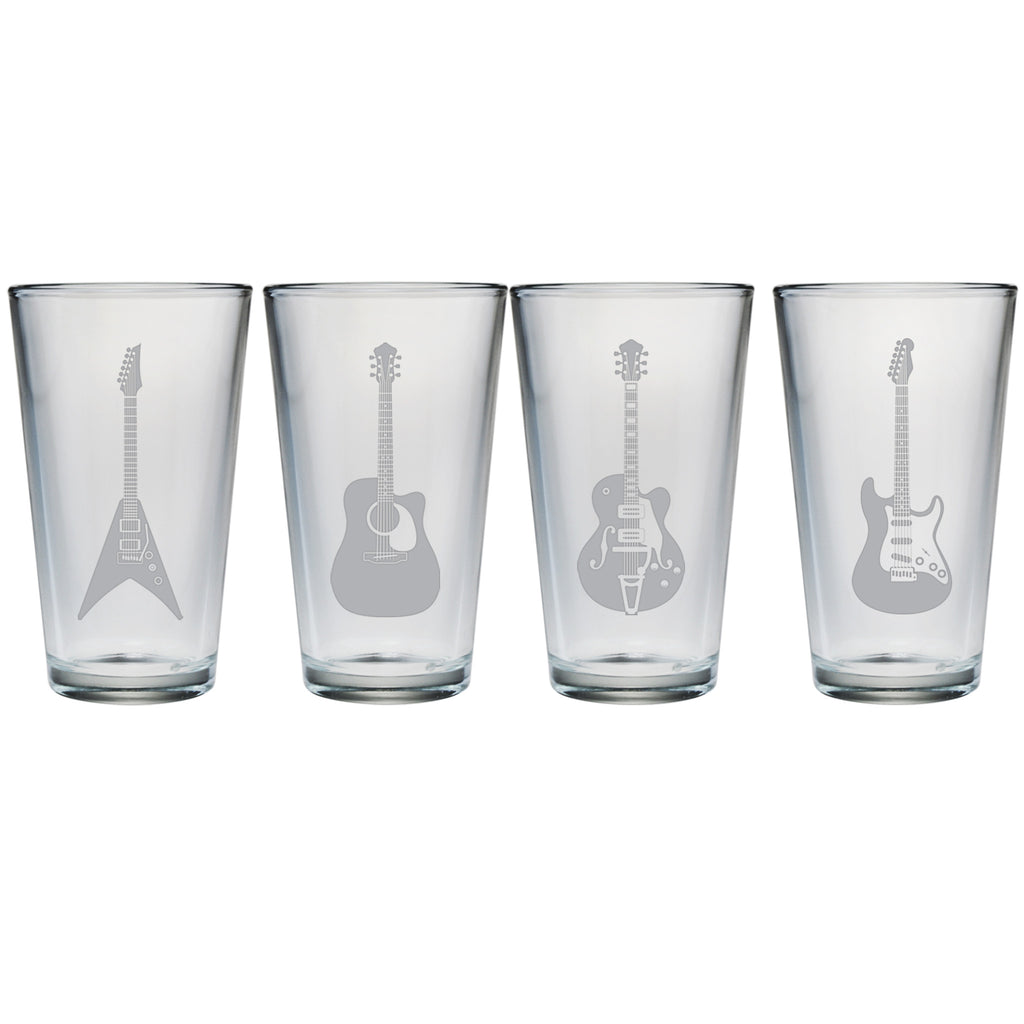 Guitar Collection Pint Glasses