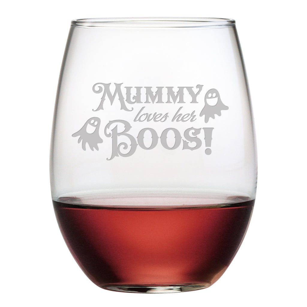 Mummy Loves Her Boos Stemless Wine Glasses - Set of 4 | Premier Home & Gifts