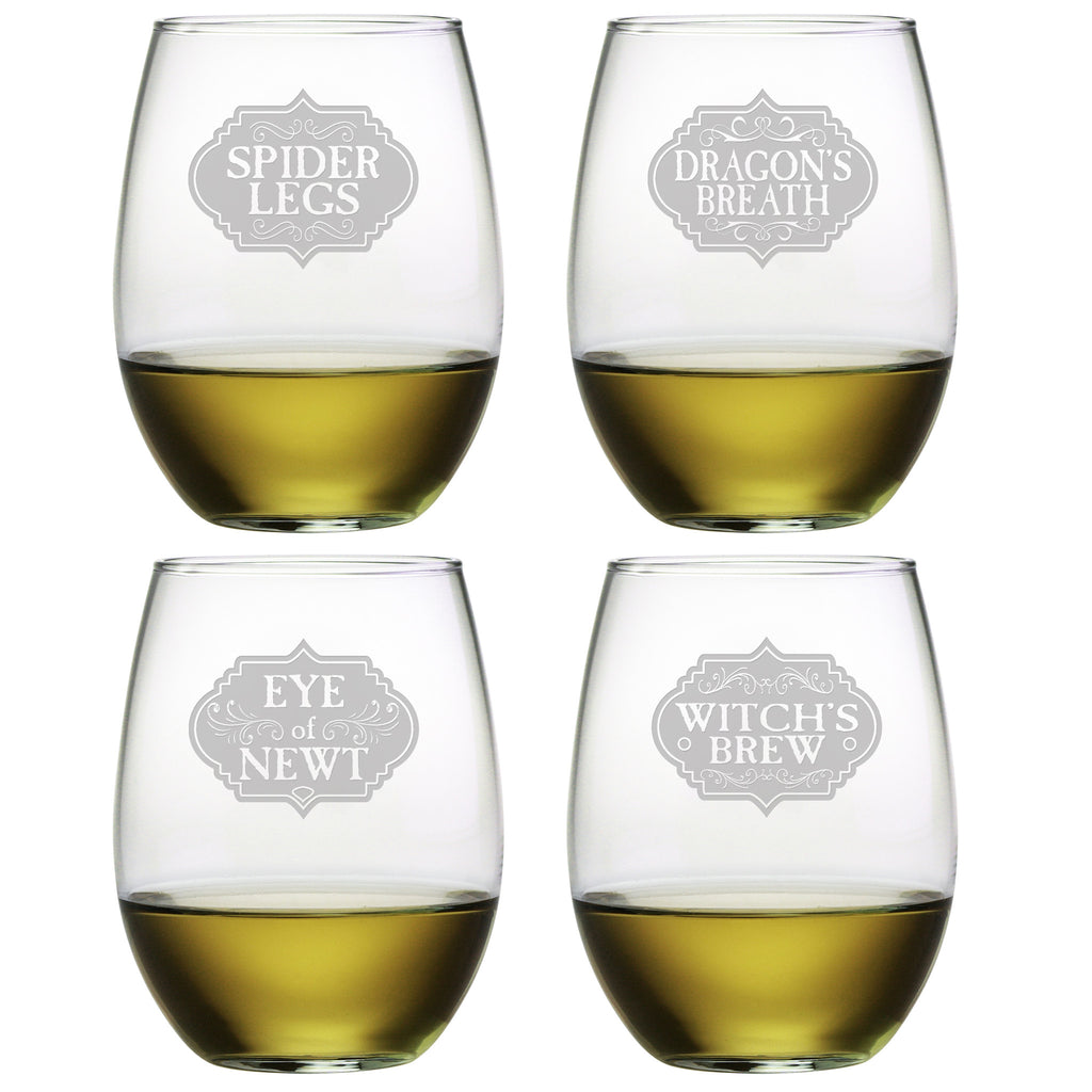 Witch's Brew Stemless Wine Glasses - Set of 4 | Premier Home & Gifts