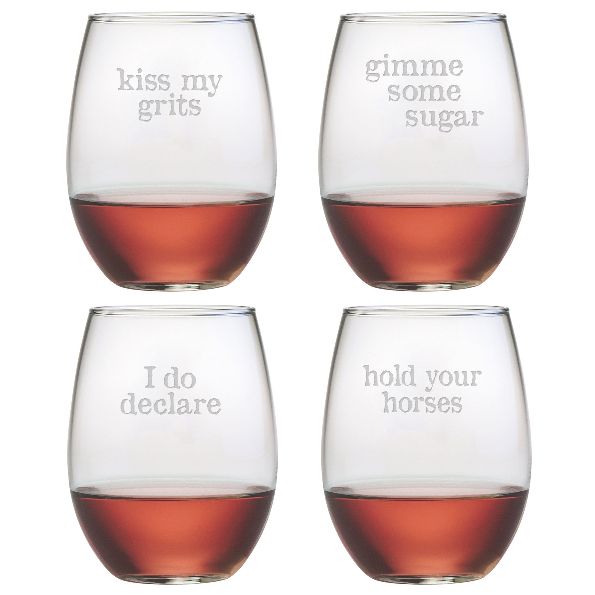Southern phrases stemless wine glasses ccuart Gallery
