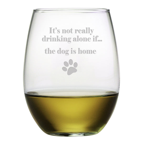 Best Stemless Wine Glasses Its Not Really Drinking Alone if the Dog is Home YJ14