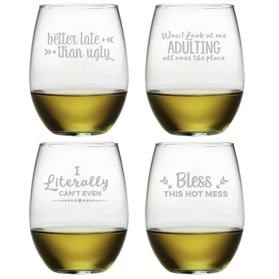 Boozily Honest Stemless Wine Glasses - Premier Home & Gifts