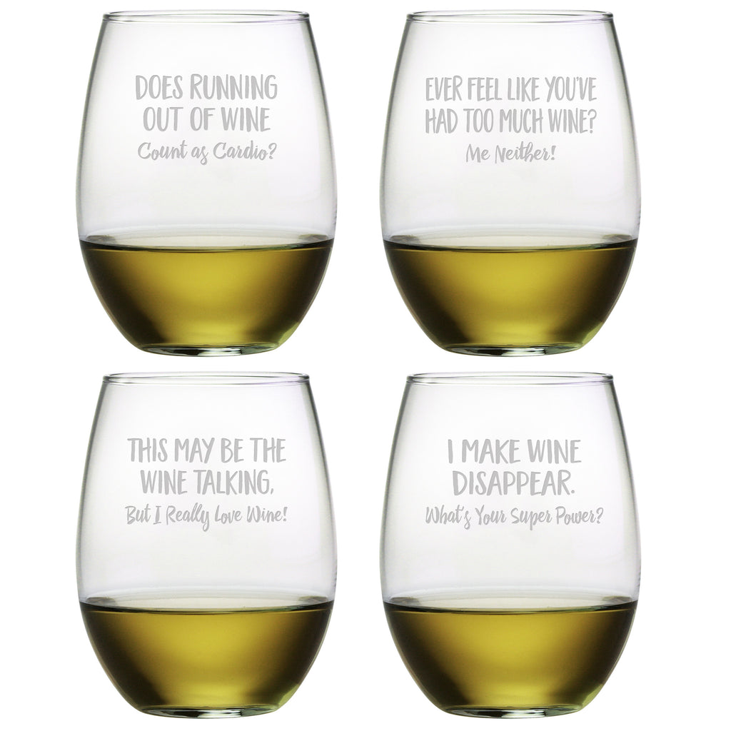 Uncorked Humor Stemless Wine Glasses - Premier Home & Gifts