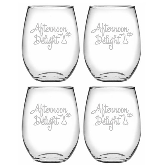 Afternoon Delight Stemless Wine Glasses - Premier Home & Gifts