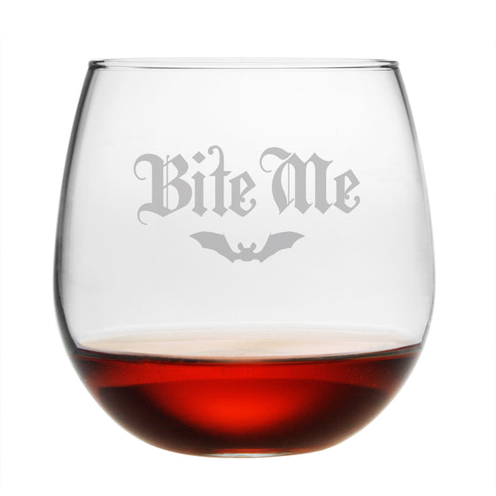Bite Me Stemless Wine Glasses - Set of 4 | Premier Home & Gifts