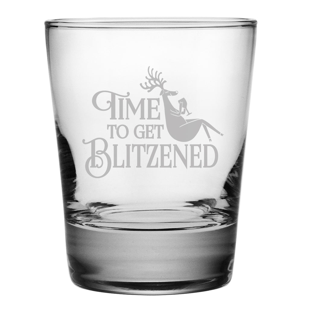 Blitzened Double Old Fashioned Glasses - Set of 4