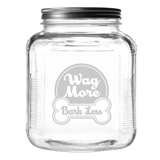 Wag More Bark Less Pet Food and Treat Jar - Premier Home & Gifts