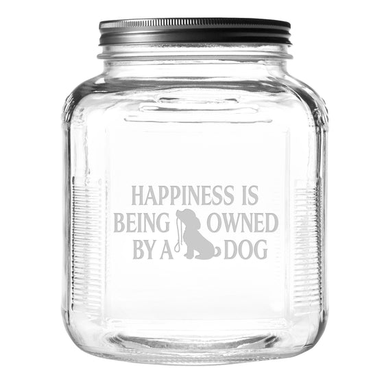 Owned by a Dog Pet Food and Treat Jar -Premier Home & Gifts