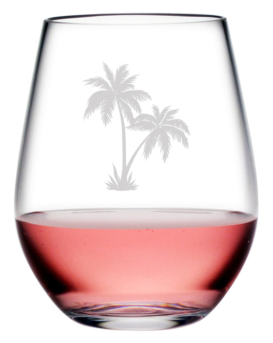 Palm Tree Cluster Tritan™ Shatterproof Stemless Tumblers