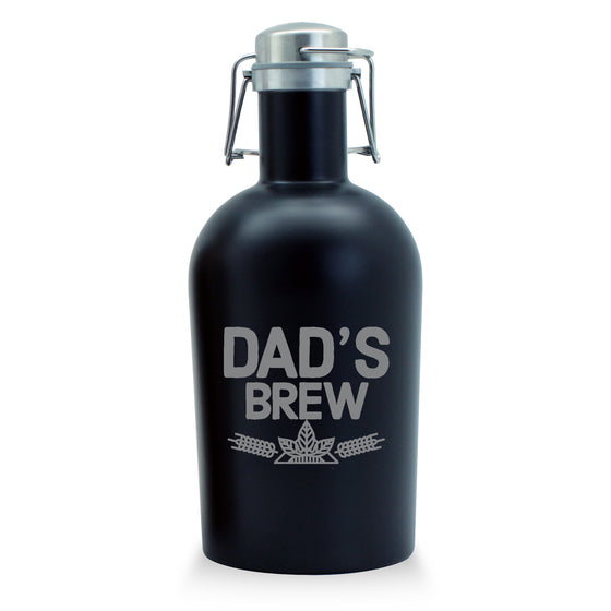 Dad's Brew Stainless Growler - Father's Day Gifts - Gifts for Dad