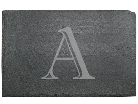 Block Initial Slate Cheese Board